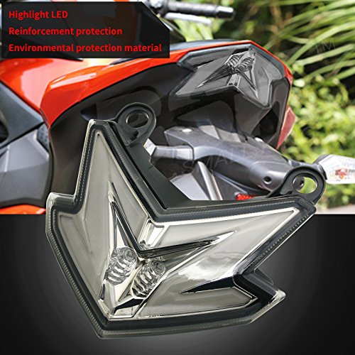BSK Integrated LED Tail Light with Brake Stop Turn Signals Function Smoke Lens for Kawasaki Ninja Z125 Z125pro Zx6r 636 Z800 2013-2017