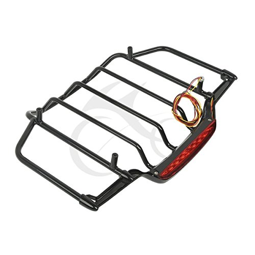 Tengchang Luggage Rack With Led Light For Harley Air Wing Tour Pak Trunk Pack 1993-2014 06