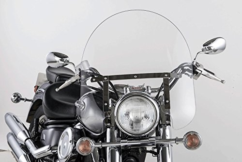 Slip Streamer SS-30 23in Width Classic Windshield for Standard Fork Motorcycles - 17