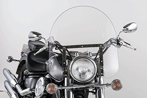 Slipstreamer SS-30-17CQB SS-30 17in Classic Windshield with Black Hardware - Clear