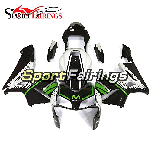 Sportfairings Green Black White Injection ABS Plastic Motorcycle Fairing Kits For Honda CBR600RR F5 Year 2003 2004 Hulls