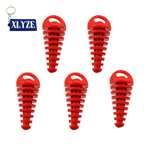 XLYZE 2-Stroke Muffler Exhaust Pipe Silencer Wash Plug Fits 35 to 1 38 openings For KX RM CR CRF KX RM YZ KTM Pack of 5