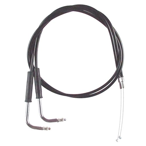 Black Vinyl Coated 10 Throttle Cable Set for 1999-2006 Harley-Davidson Sportster 883 Custom models - HC-0336-0144-883C
