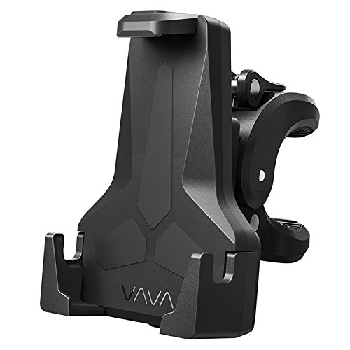 VAVA Bike Phone Mount Phone Holder for Bike with Triangular Shape Arms to Keep Phones Safe One-Handed Operation 360 Degree Rotation Fits Bicycles Motorbikes Scooters Prams