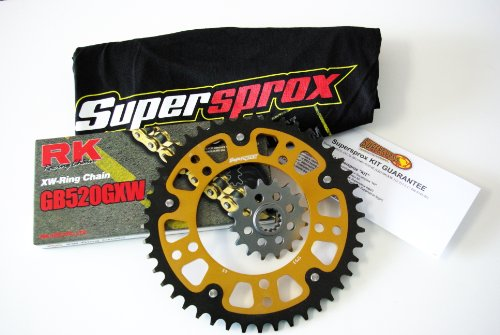 Supersprox Stealth 520 Chain and Sprocket Set for Suzuki GSXR 1000 2001-2006