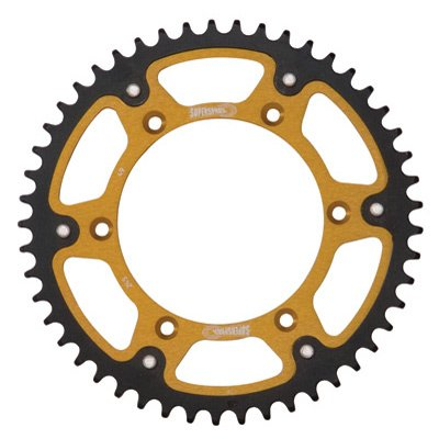 Supersprox Stealth Rear Sprocket 50 Tooth Gold for Suzuki RMZ450 2005-2018