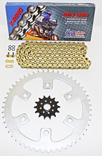 Honda 2010-2014 CRF250R CZ ORHG Gold X Ring Chain And Sprocket 1450 120L