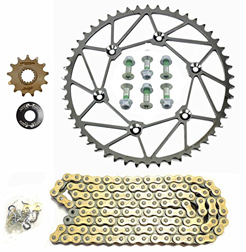 Dirt Tricks Ironman Front Rear Sprockets  Regina Z Ring Chain Kit -1349- 4 Stroke Husqvarna  KTM
