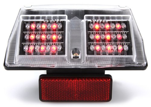 1994-2004 Ducati 748 916 996 998 IntegratedSequential LED Tail Lights Clear Lens