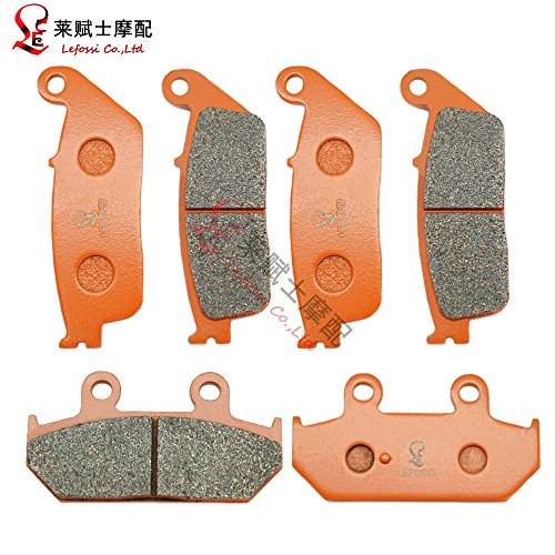 Lefossi Front Rear Carbon Fiber Brake Pads Brakes for Suzuki Brake Pads AN 650 Burgman Executive  Skywave 2003-2014 FA142F FA412R