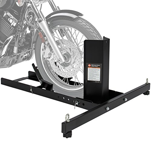 Best Choice Products SKY2725 Adjustable Motorcycle Stand Wheel Chock Upright 1800lbs Capacity