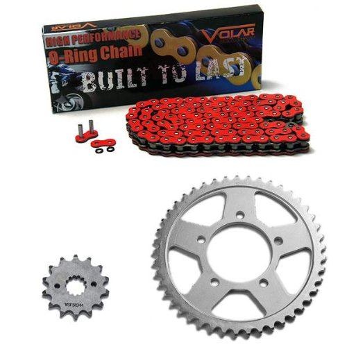 1986-1987 Suzuki GSXR 1100 O-Ring Chain and Sprocket Kit Red 530 Conv