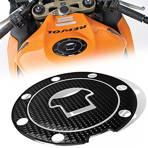 3D Gas Tank Fuel Cap Cover Protector Pad for Honda CBR-1000RR600RR Black