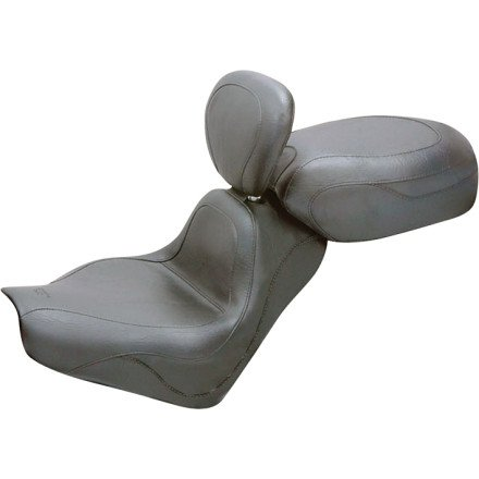 05-09 HONDA VTX1300R Mustang 2-Piece Sport Touring Seat with Backrest - Vintage