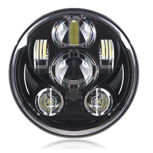 Motorcycle 5-34 575 Daymaker LED Headlight for Harley Davidson 883sportstertriplelow riderwide glide Headlamp Projector Driving Light