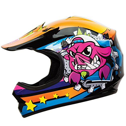 IV2 YouthKid War Hog Jr Junior Motocross Motorsport ATV Dirt Bike Helmet DOT - Large