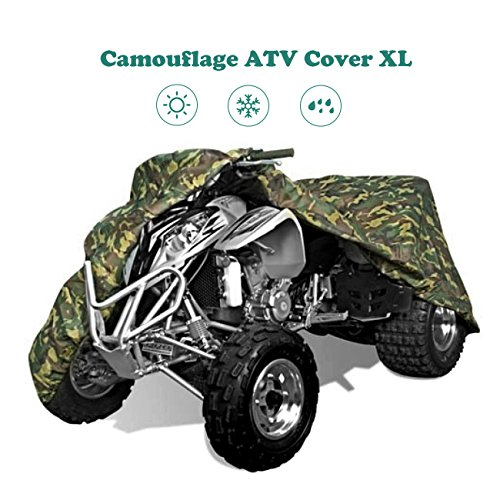 ATV Cover INNOGLOW 190T Duty UV Resistant Camouflage 4-Wheeler Covers Fit 86 Motorbike Vehicles Yamaha Grizzly Suzuki Polaris Sportsman Kawasaki Honda FourTrax Can-Am Bombardier Arctic Cat