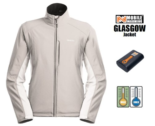Ansai Mobile Warming Glasgow Heated Jacket - MediumSilver