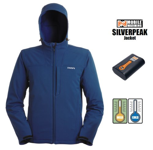 Ansai Mobile Warming Men's Silverpeak Heated Jacket - XLNavy Blue