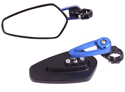 Arrow Bar End View Mirrors with Blue stem for 2009 Buell Blast