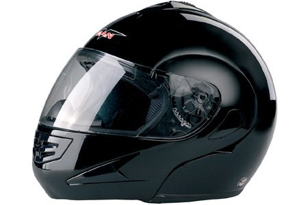 VCAN V200 Solid Black Full Face Modular Helmet Large