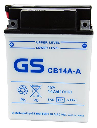 GS BATTERY - GS CB14AA with Acid Pack – High Performance Powersports Battery for YUASA YB14A-A1 Replacement Fits ATV applications