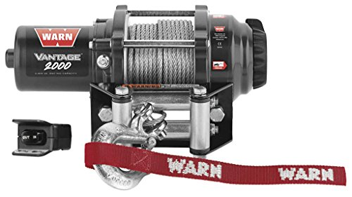 New Warn Vantage 2000 lb Winch With Model Specific Mounting Hardware - 2005-2009 Yamaha Grizzly 400 Auto 4x4 ATV