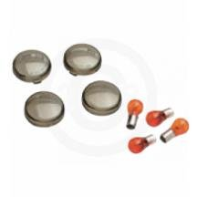 Harley FLHX Street Glide Smoke Turn Signal Lens Kit 2011-12 - Orange Cycle Parts