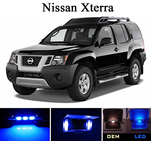 2004- 2015 Nissan Armada Ultra Blue LED Light Bulbs for Vanity Sunvisor 4 Pieces