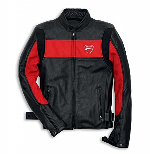 Ducati Company 981019205 Leather Riding Jacket - Red - Large