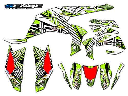 Senge Graphics 2007-2016 Kawasaki KFX 90 Mayhem Green Graphics Kit