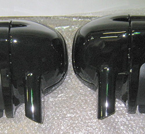 Gloss Vivid Black Lower Vented Leg Fairing Caps for 1993-2013 Harley-Davidson FLH FLHT Road King Ultra Classic Electra Glide Street Glide