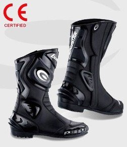 Exustar Black Leather Protective Rubber Sole Mens Ramp Sport Street Boots - Frontiercycle (free U.s. Shipping)