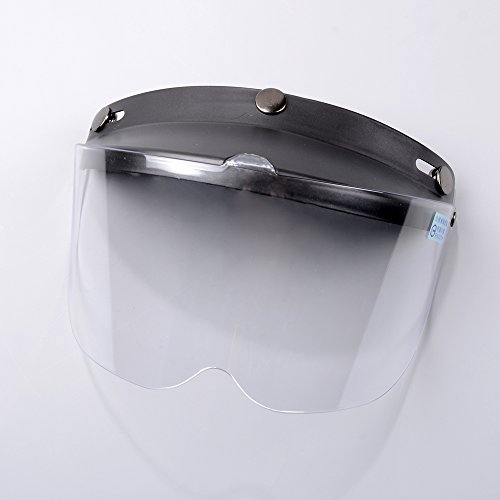 1Pcs Flip Up Clear Visor Full Face Shield 3 Snap For Open Half Face Helmet Motorcycle