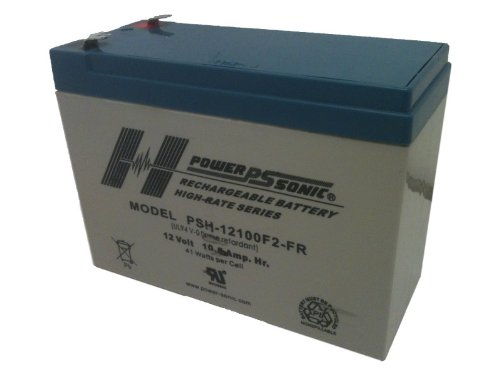 Powersonic PSH-12100F2 FR - 12 Volt105 Amp Hour Sealed Lead Acid Battery with 0250 Fast-on Connector and Flame Retardent Case