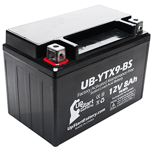 Replacement 2011 E-Ton Matrix R4-150 150CC Factory Activated Maintenance Free Scooter Battery - 12V 8Ah UB-YTX9-BS
