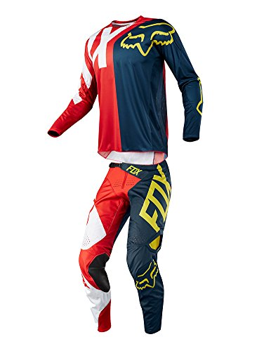 Fox Racing 2018 360 Preme Combo Jersey Pants Adult Mens MX ATV Offroad Dirtbike Motocross Riding Gear NavyRed
