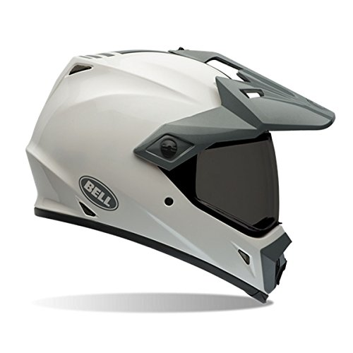 Bell Solid Mens MX-9 Adventure Dirt Bike Motorcycle Helmet - White  Medium
