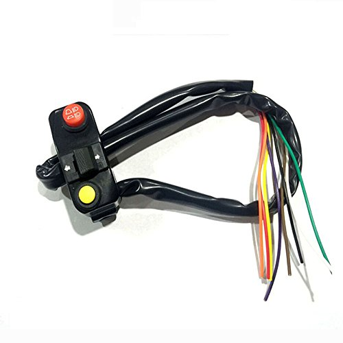 Feiteplus Universal 78 Aluminum Motorcycle Handlebar Mount Switches Horn Button Turn Signal Light Switch Electrical System DC 12V