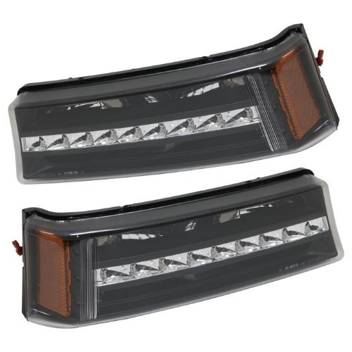 Fit 2003-2006 CHEVY SILVERADO LED SIGNAL LIGHTS G2 BLACK AMBER NEW
