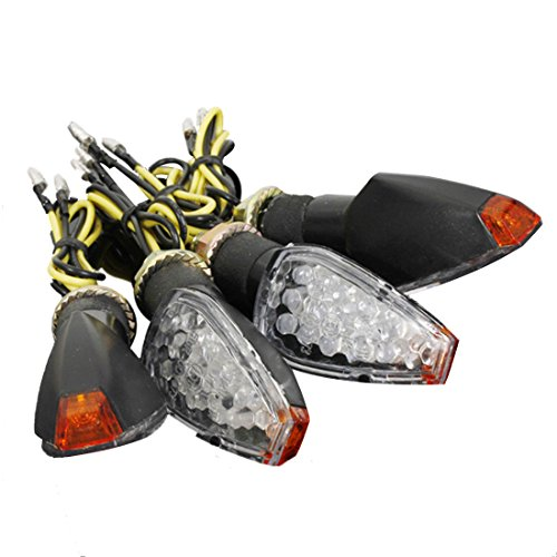 turn signals - SODIALR4x 12V 14 LED Lights Direction Indicators Arrows Approved Signal Amber Motorcycles