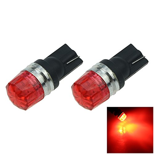 ZHANSHENZHEN Red Auto Turn Signal Light Wedge Lamp 2 Emitters 5630 SMD LED DC 12V 2921 2825 12256 A119-R Pack of 2