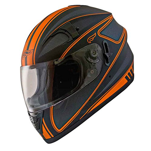Fulmer AF-62B2397E Adult Full Face Street Motorcycle Helmet wiShade DOTECE Approved - Orange Edge M