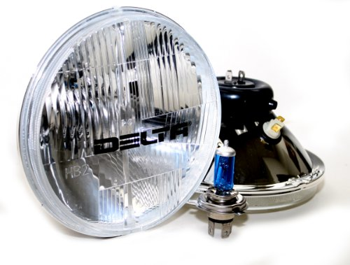 Delta Lights 01-1159-SMDW DOT Series 7 Universal Xenon Headlight Kit with Clear SMD LED City Lights