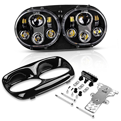 Harley Headlight Led 575 Dual Daymaker Projector Headlamp for 2004-2013 Harley Davidson Road Glide Harley Davidson Accessories