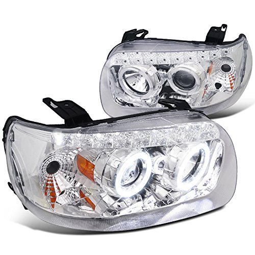 Spec-D Tuning 2LHP-ECAP05-RS Ford Escape Chrome Dual Halo Projector Smd Led Headlights Lamps