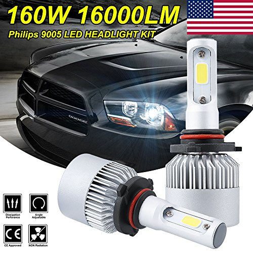 S2 270W 27000LM PHILIPS LED HEADLIGHT BULBS KIT H4 H7H11H8H9H11H139004900590069006 9007 6000K HIGH POWER BEAM BULBS 2 PCS 9005