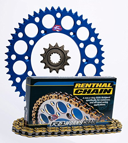 Renthal Grooved Front Ultralight Rear Sprockets R1 Works Chain Kit - 1450 BLUE - Yamaha YZ85