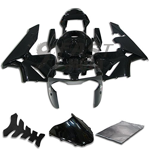 9FastMoto Fairings for honda 2004 2005 CBR1000 RR 04 05 CBR1000RR Motorcycle Fairing Kit ABS Injection Set Sportbike Cowls Panels Black H0775