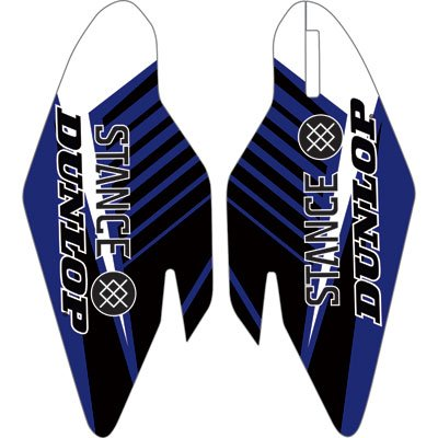 Attack Graphics Turbine Lower Fork Guard Decal Blue for Yamaha YZ250F 2010-2018